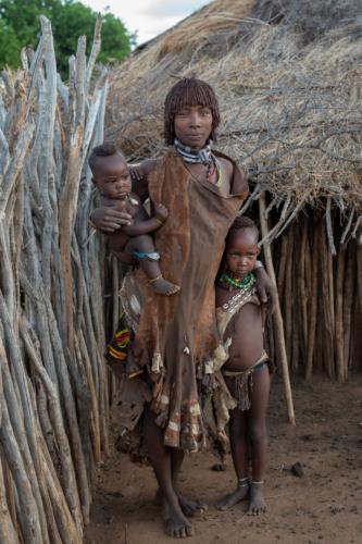 Hamar family Ethiopia